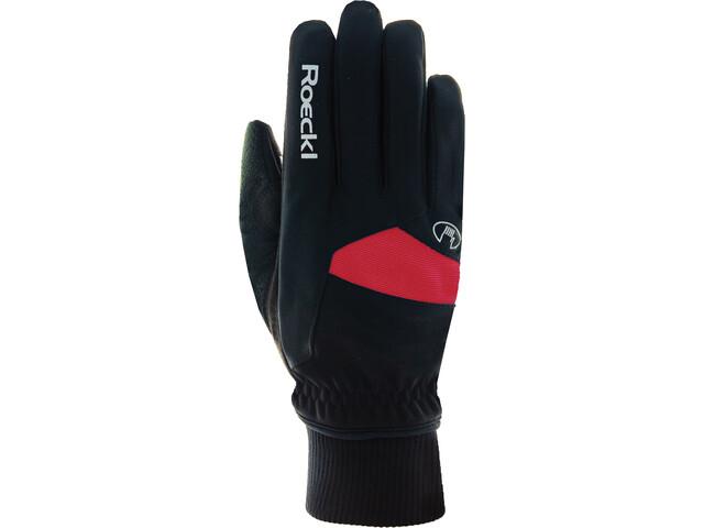 Roeckl Passau Handschoenen Kinderen, black/red